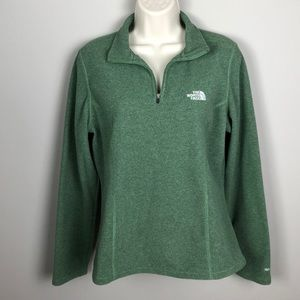 The North Face TKA 100 Moss Olive Fleece Pullover